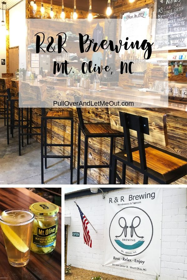 R&R Brewing Microbrewery and Taproom in Mount Olive, NC serves a variety of craft brews including Pickletown Lager. PullOverAndLetMeOut.com