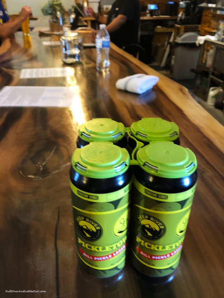 A Four Pack of Pickletown Lager at R&R Brewing in Mt. Olive, NC PullOverAndLetMeOut.com
