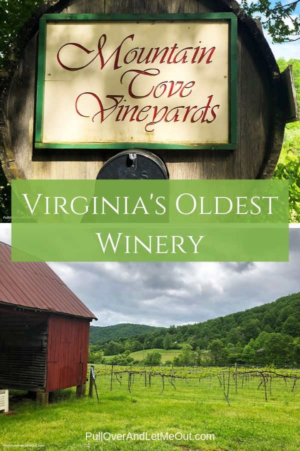 Mountain Cove Vineyards in Nelson County, Virginia is the state's oldest winery. PullOverAndLetMeOut.com