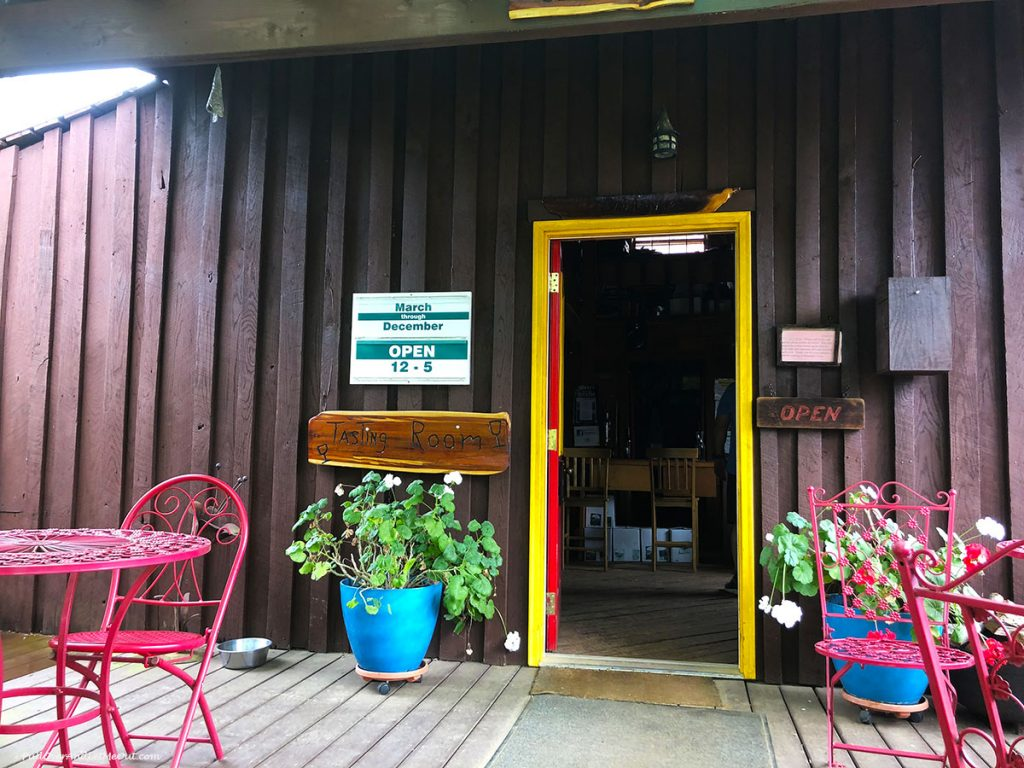 The tasting room at Mountain Cove Vineyards in Nelson County, Virginia PullOverAndLetMeOut.com