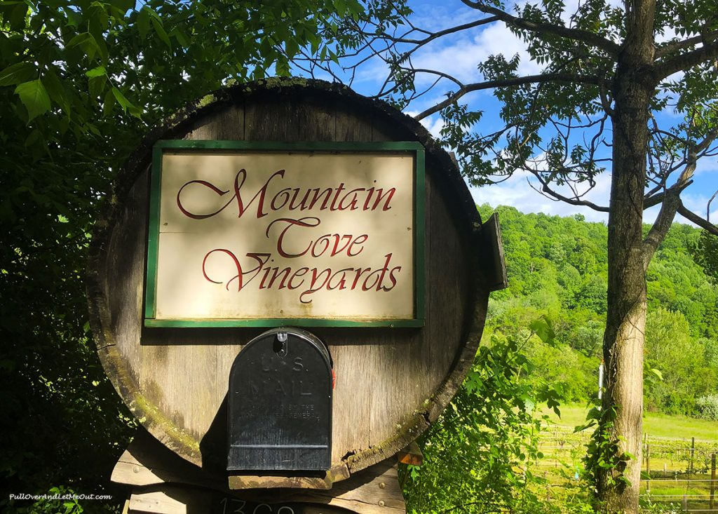 The mailbox at Mountain Cove Vineyards in Nelson County, Virginia is made from an old wine barrel. PullOverAndLetMeOut