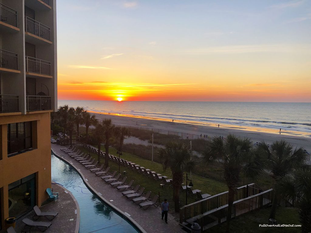 Breathtaking Atlantic Ocean sunrise at The Strand in Myrtle Beach, SC. PullOverAndLetMeOut