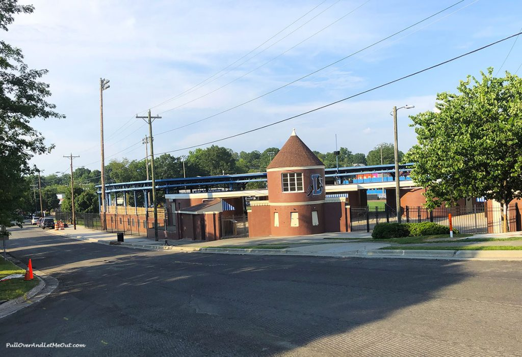The old Durham Bulls Stadium. PullOverAndLetMeOut.com