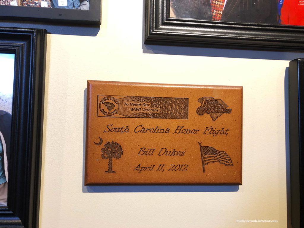 Plaque on wall at Blue Marlin Restaurant Vista Columbia, SC PullOverAndLetMeOut.com
