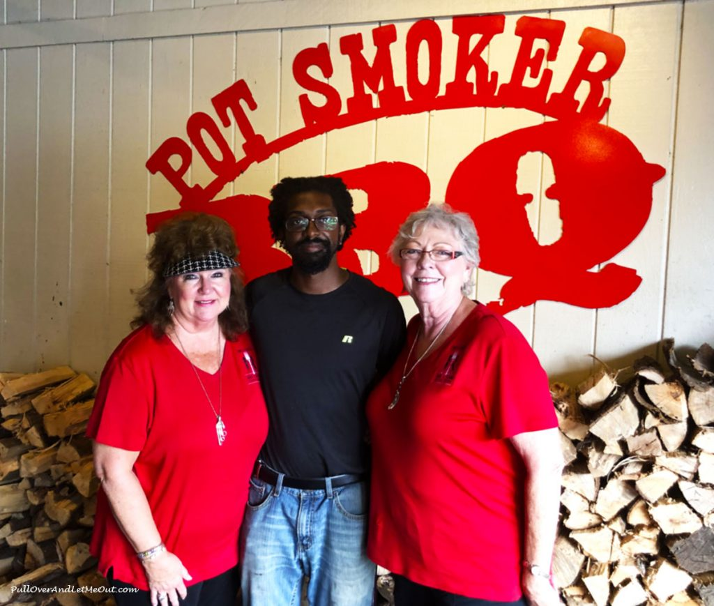 Two Gals and a Fork with Shante from Pot Smoker BBQ. PullOverAndLetMeOut.com
