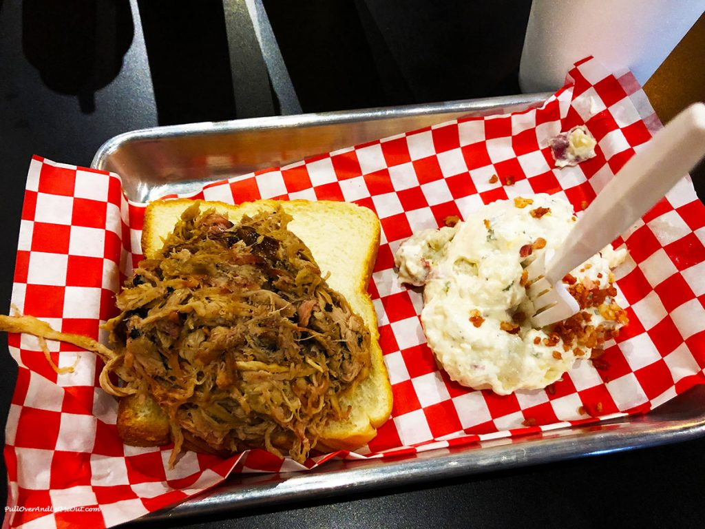 Picture of BBQ and potato salad at The Pot Smoker BBQ PullOverAndLetMeOut