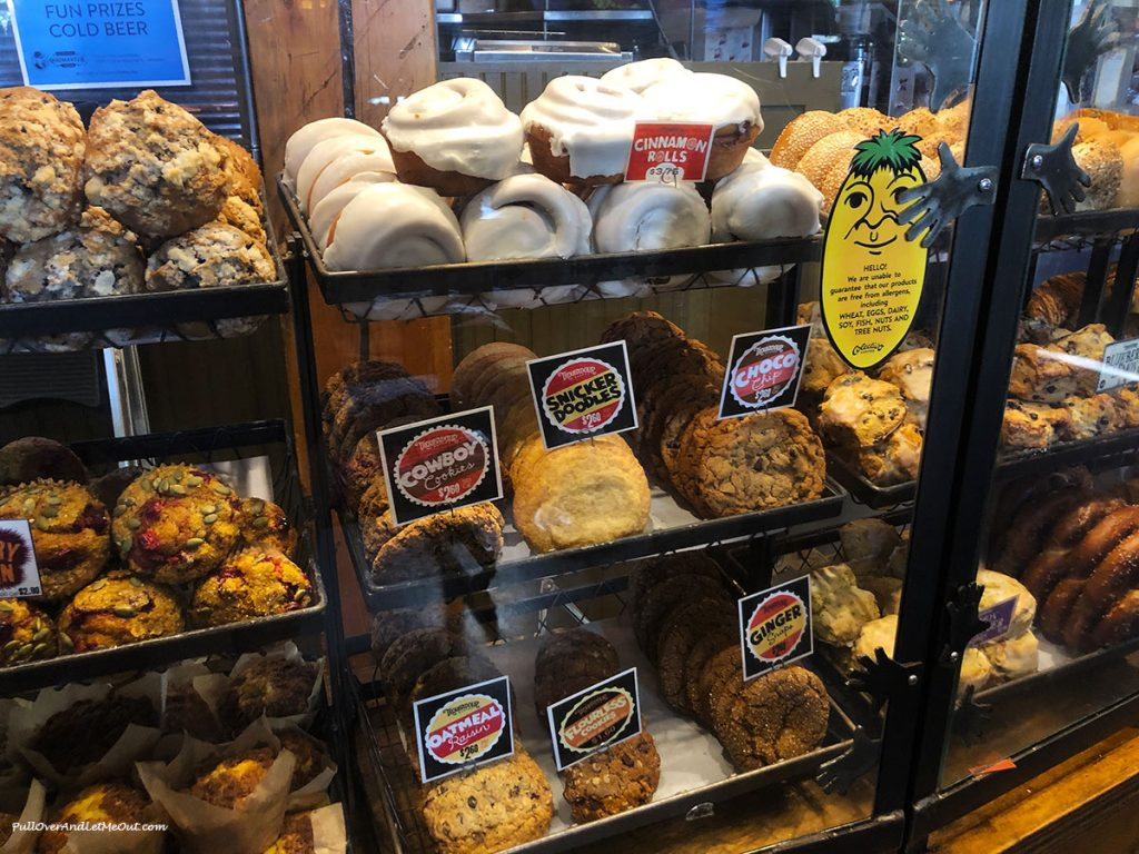 Display case with baked goods at Colectivo Coffee. PullOverAndLetMeOut