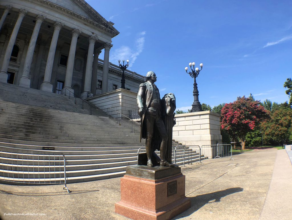 Statue of George Washington at South Carolina State House PullOverAndLetMeOut.com