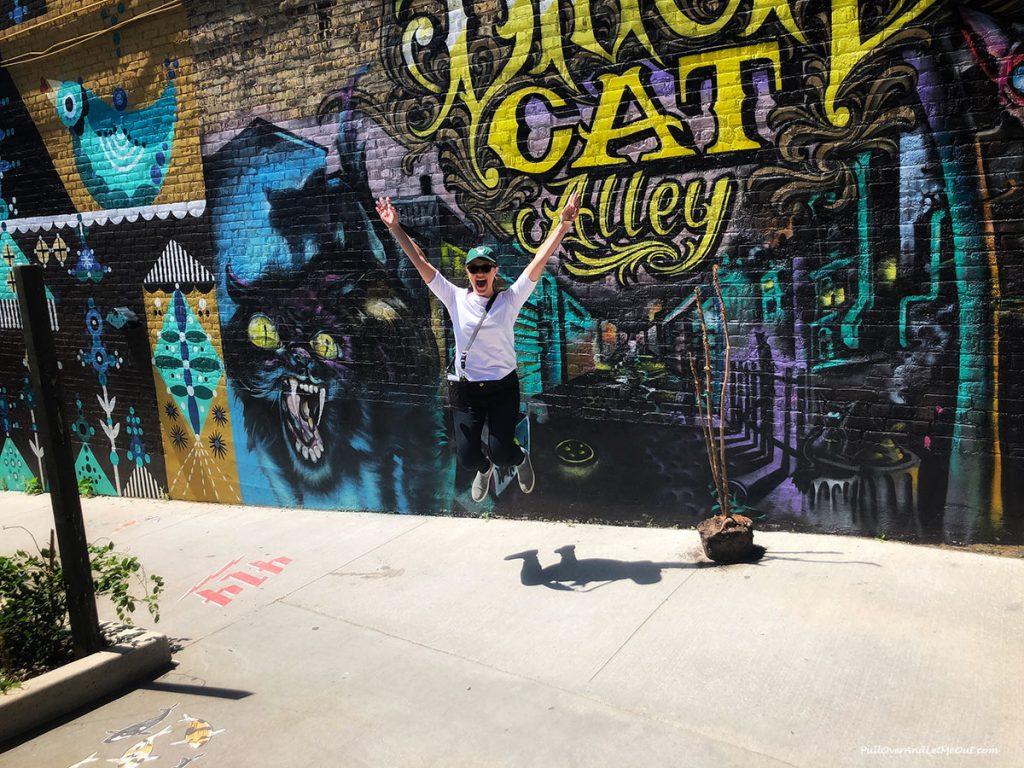 Jumping at Black Cat Alley. PullOverAndLetMeOut