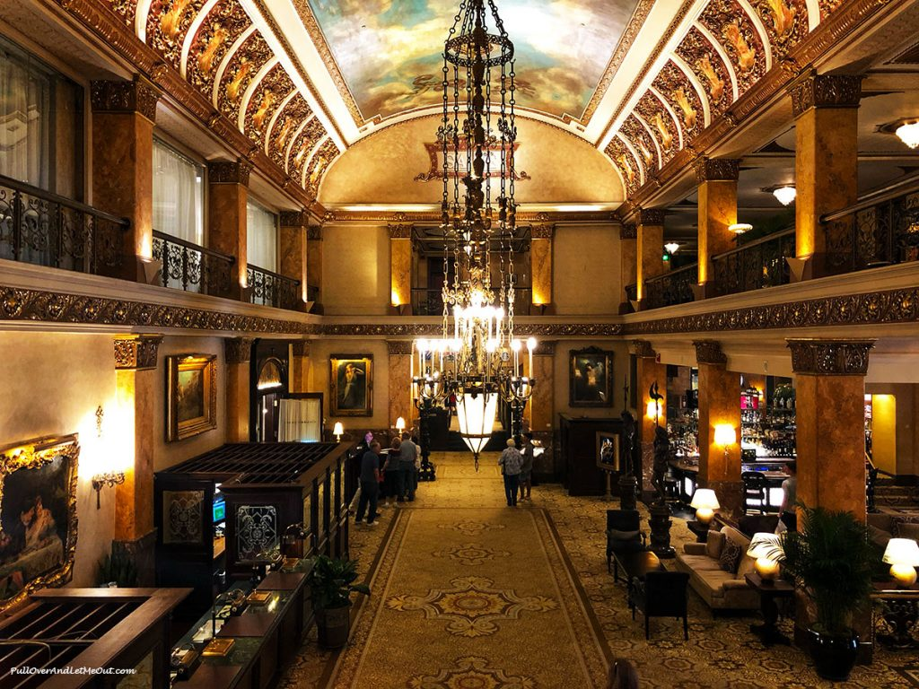 The lobby of the Pfister Hotel in Milwaukee. PullOverAndLetMeOut