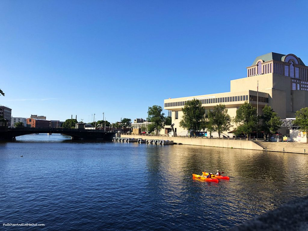 Two kayaks on the Milwaukee River. PullOverAndLetMeOut