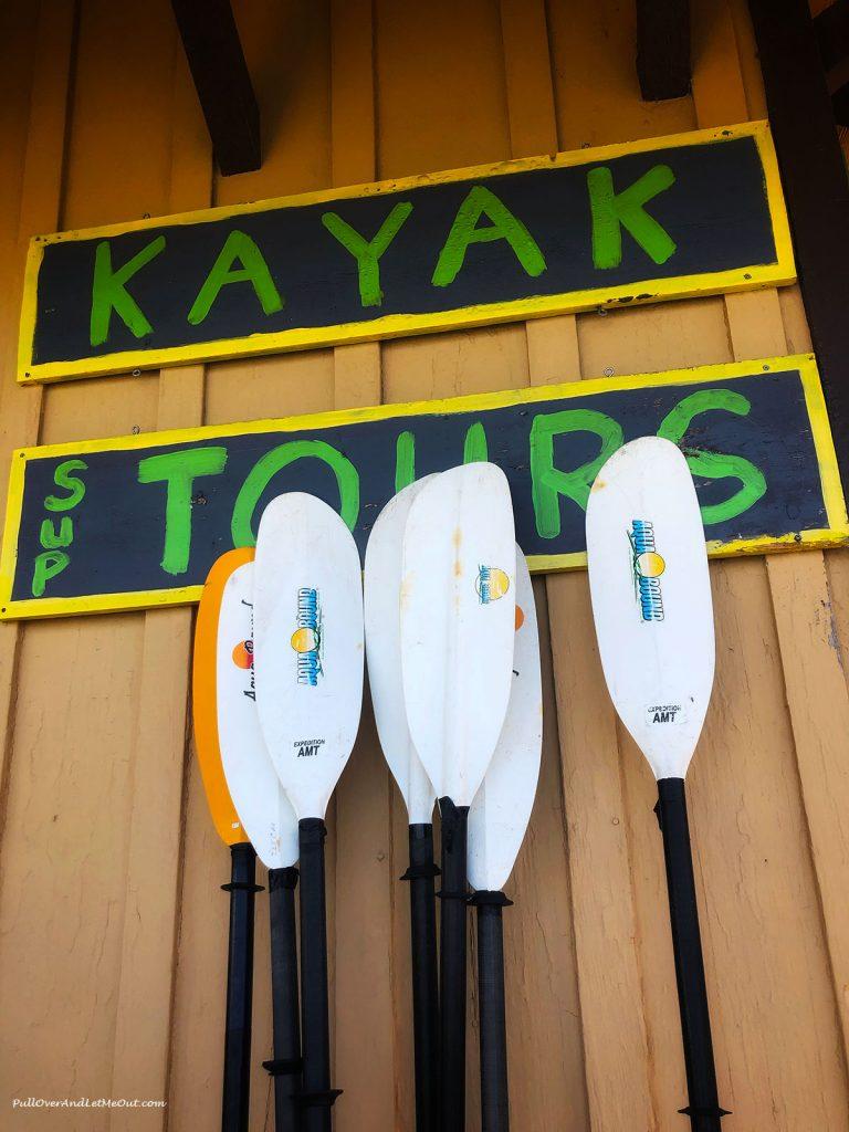Kayak paddles. PullOverAndLetMeOut