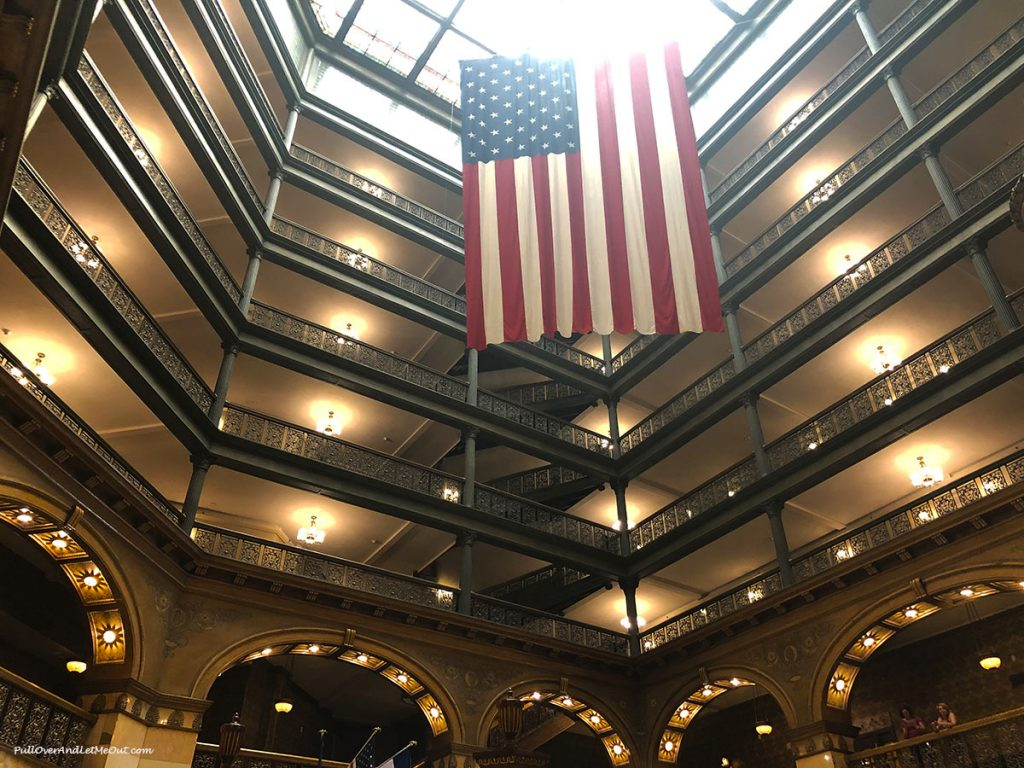 Atrium of the Brown Palace Hotel in Denver, Colorado. PullOverAndLetMeOut