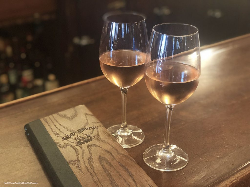 Two glasses of rose wine. PullOverAndLetMeOut