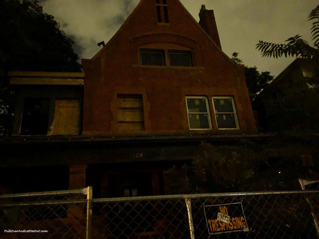 Peabody Mansion at night in Denver. PullOverAndLetMeOut