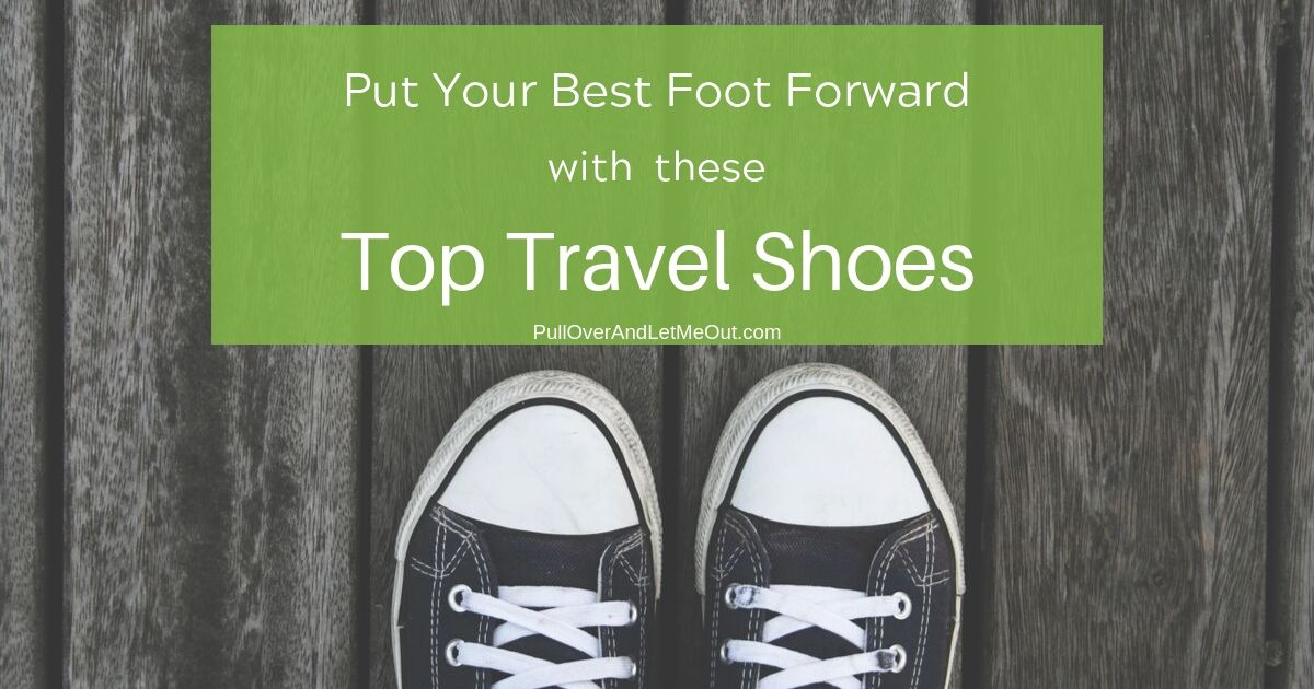 A pair of tennis shoes. Top Travel Shoes PullOverAndLetMeOut