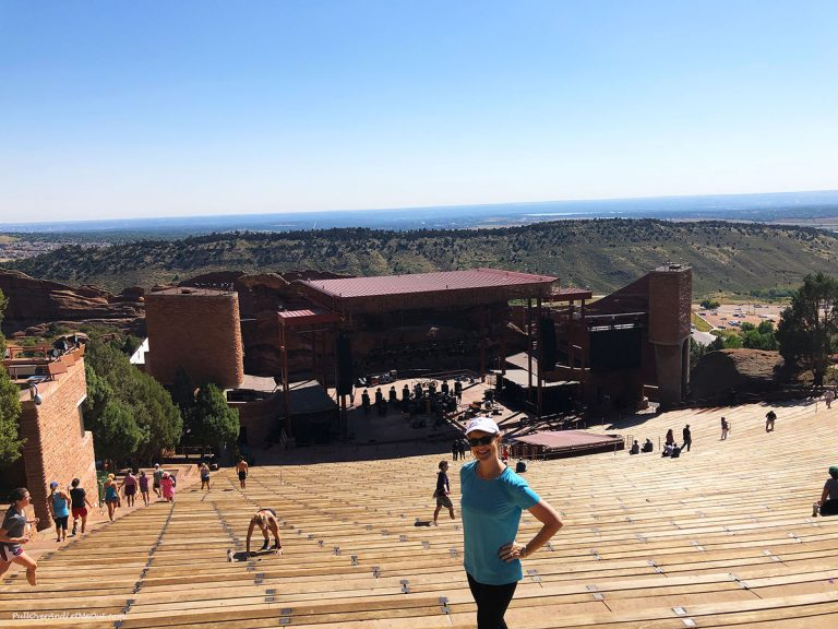 Woman at Red Rocks Amphitheater in Morrison, CO PullOverAndLetMeOut