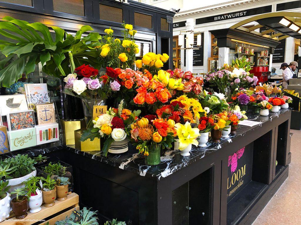 A flower cart inside Union Station Denver. PullOverAndLetMeOut