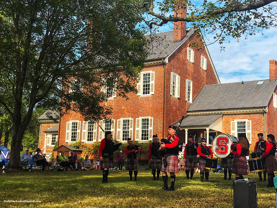 NC State Pipes & Drums at Ayr Mount