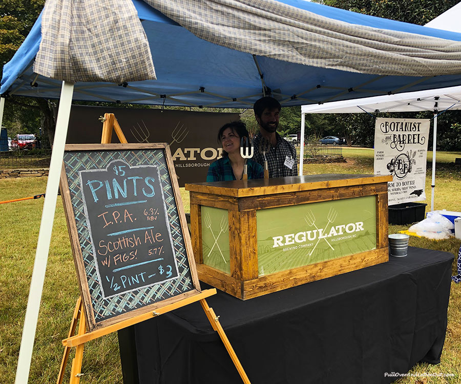 Regulator Brewing Co. tent at Outlandish Hillsborough