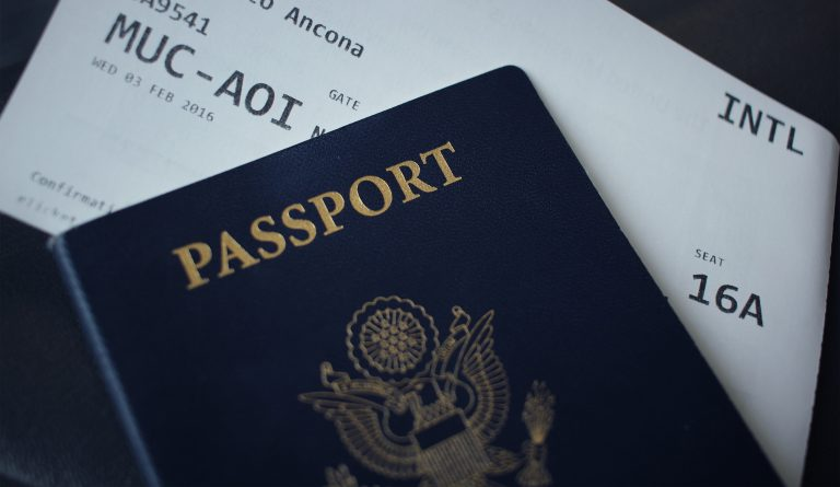 A picture of a United States passport