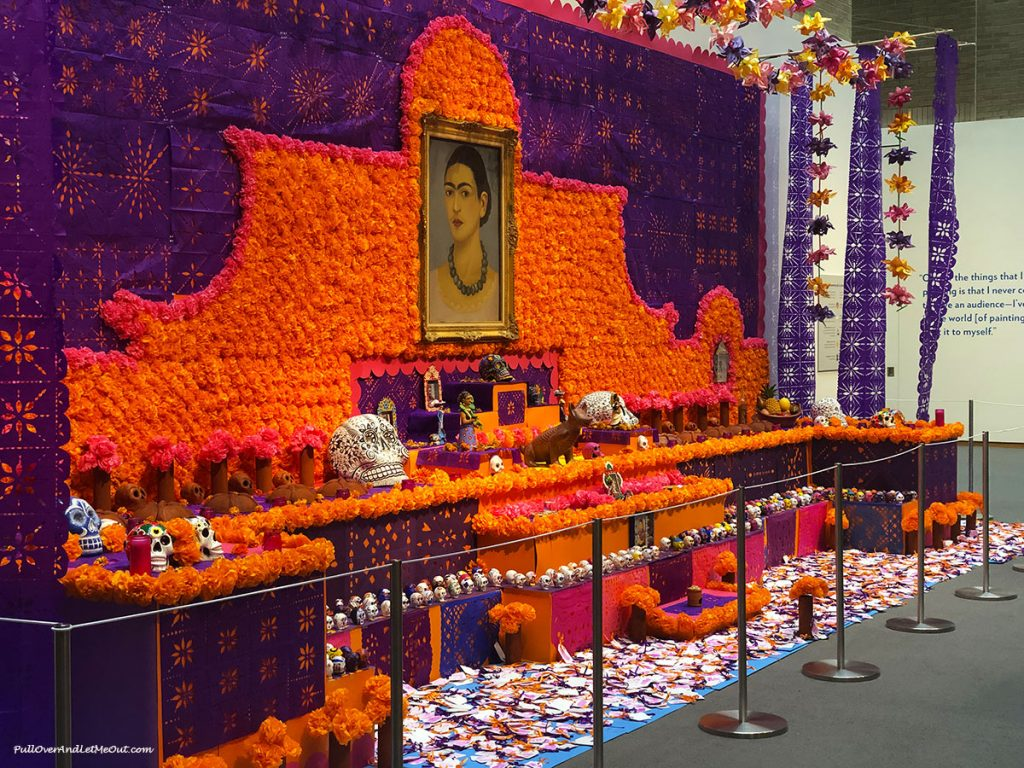Colorful Day of the Dead exhibit at Frida Kahlo NCMA