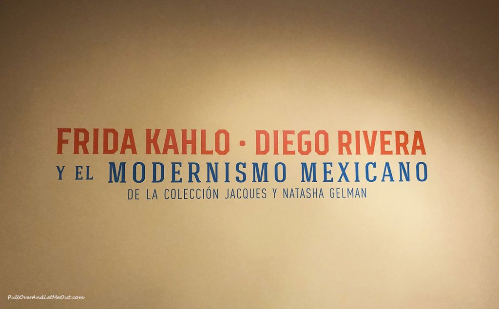 Sign that says Frida Kahlo & Diego Rivera