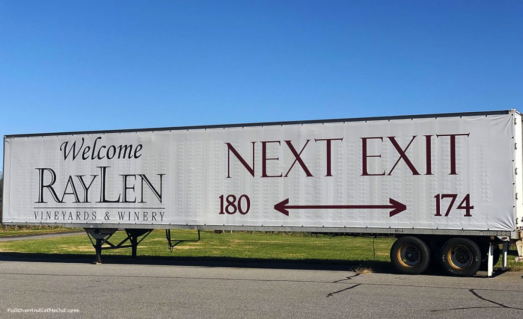 RayLen sign painted on a tractor trailer