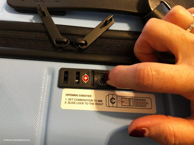 TSA suitcase lock