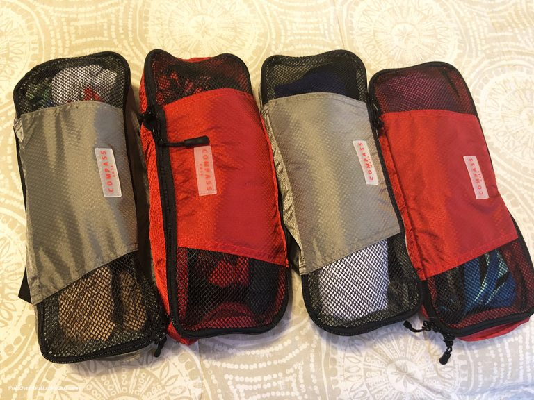 Carryon packing cubes