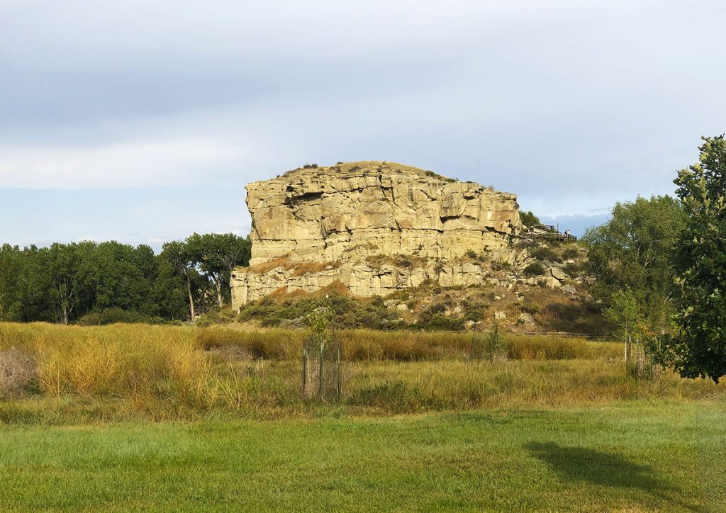 Pompeys Pillar is a butte on the Montana prairie.