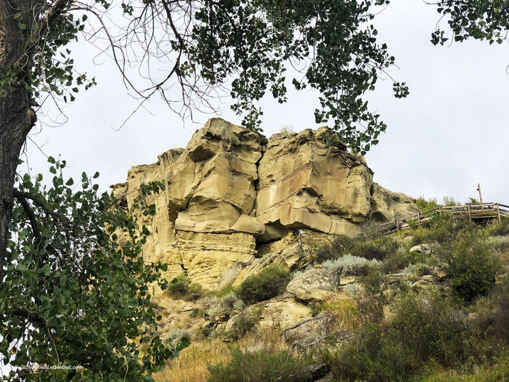 Pompeys Pillar National Monument in eastern Montana.