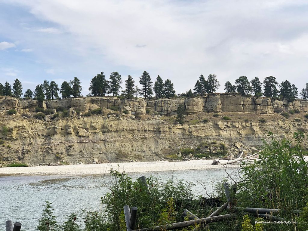 A view of the Yellowstone River in Montana