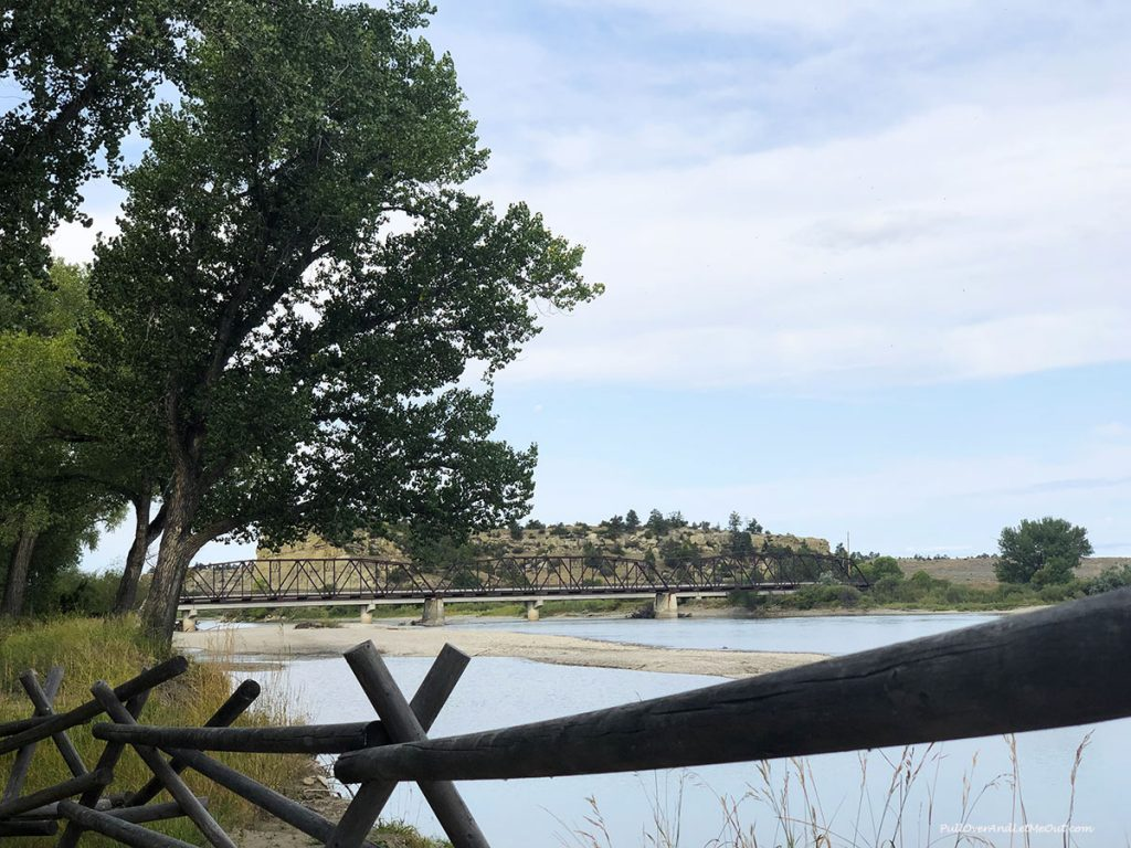 The Yellowstone River at Pompeys Pillar