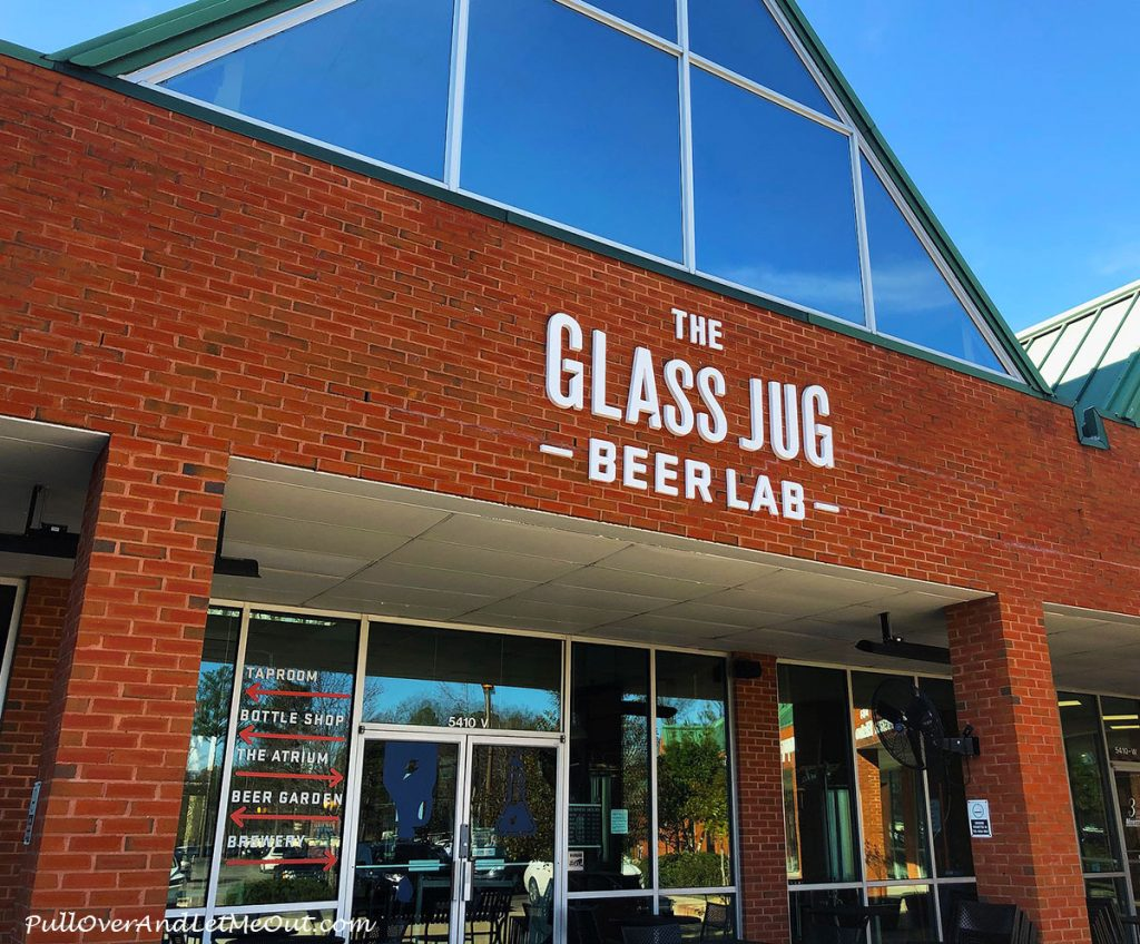 Exterior of The Glass Jug Beer Lab in Durham, North Carolina