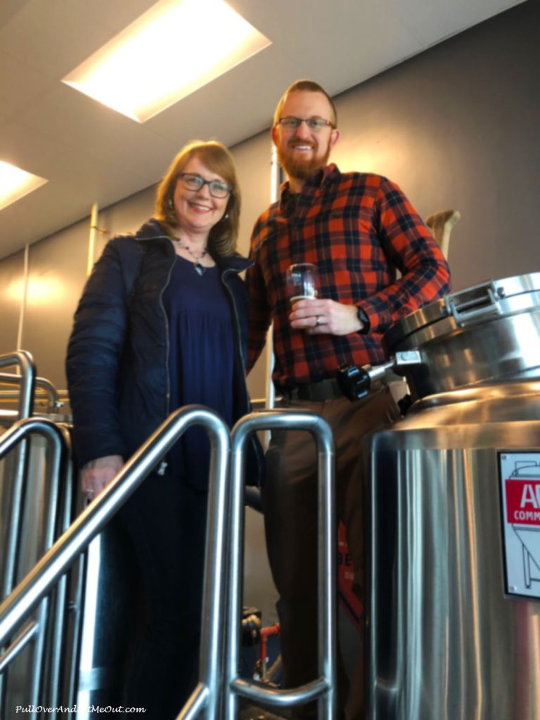 Anna Marie with The Glass Jug Beer Lab co-owner Chris Creech