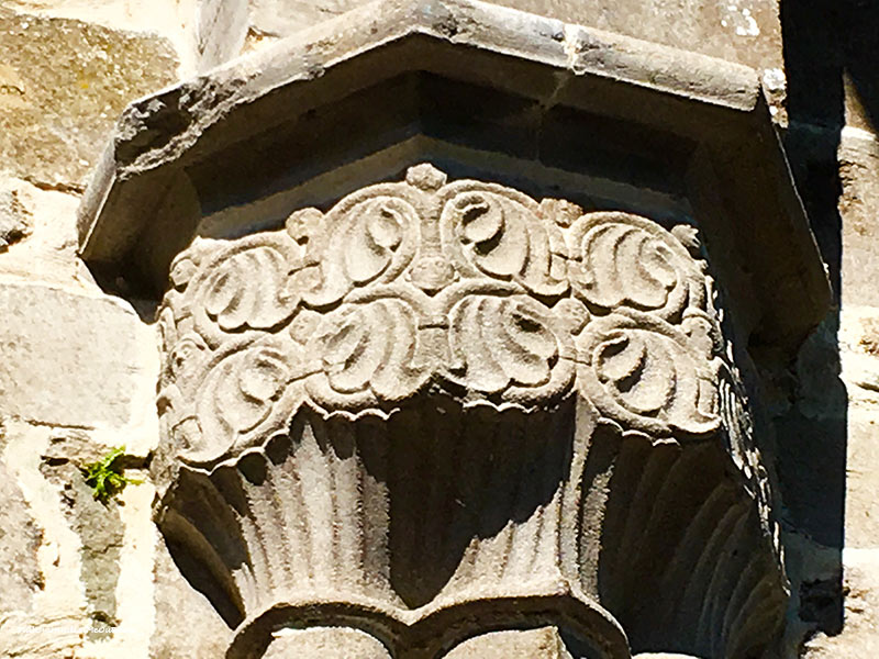 Celtic scrolls on the Boyle Abbey in Ireland. PullOverAndLetMeOut