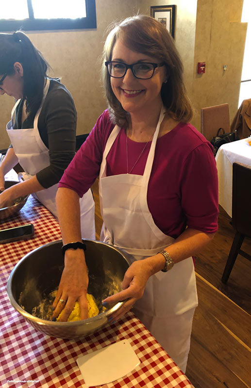 Me making pasta at Il Palio in the Siena Hotel Chapel Hill, NC PullOverAndLetMeOut