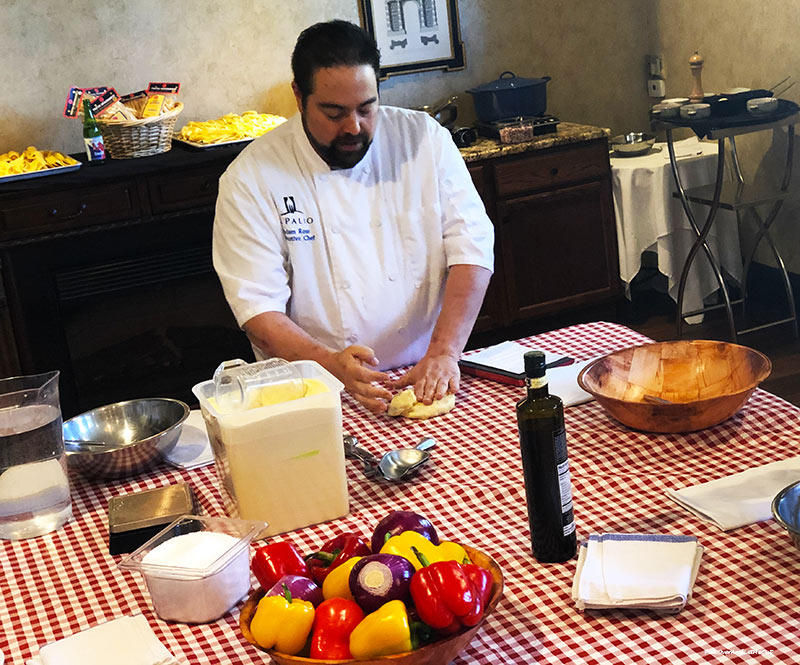Chef making pasta Il Palio Chapel Hill NC PullOverAndLetMeOut