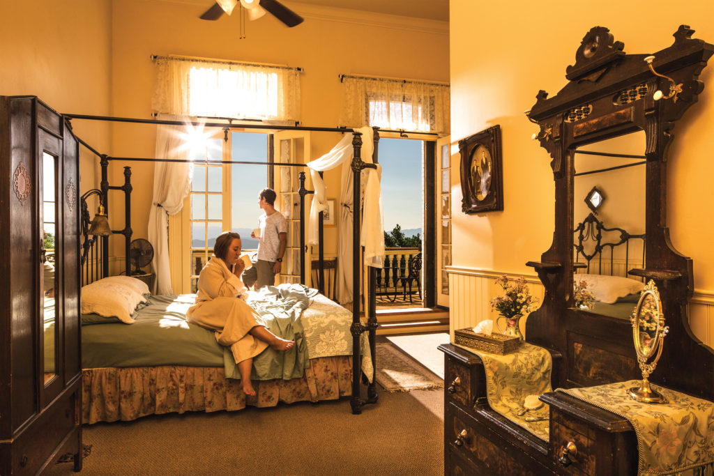 A couple in a hotel room in Virginia City, Nevada