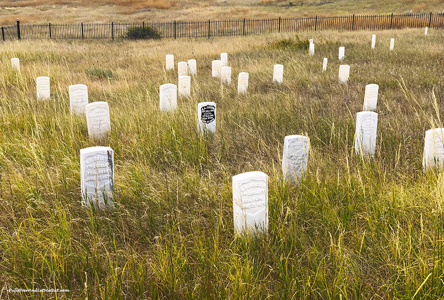 Grave markers on Last Stand Hill at Little Bighorn National Monument