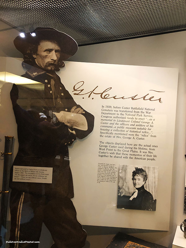 A display of General Custer at Little Bighorn National Monument museum