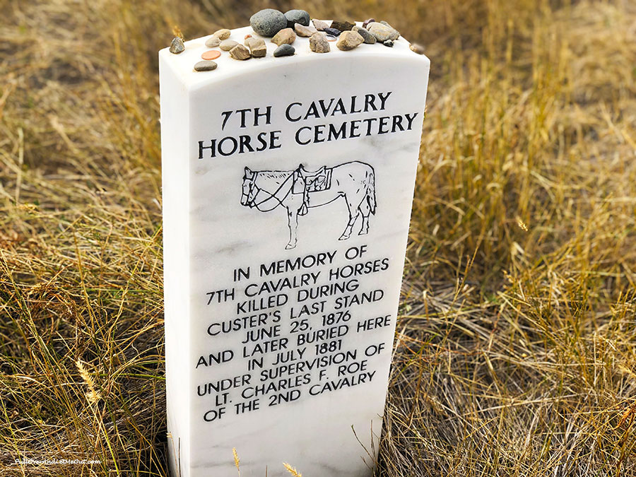 7th Cavalry Horse Cemetery stone at Little Bighorn National Monument