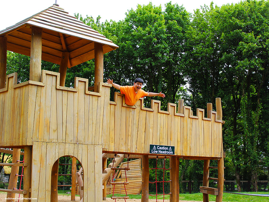 A kid's fort at Bunratty Castle and Folk Park in Ireland