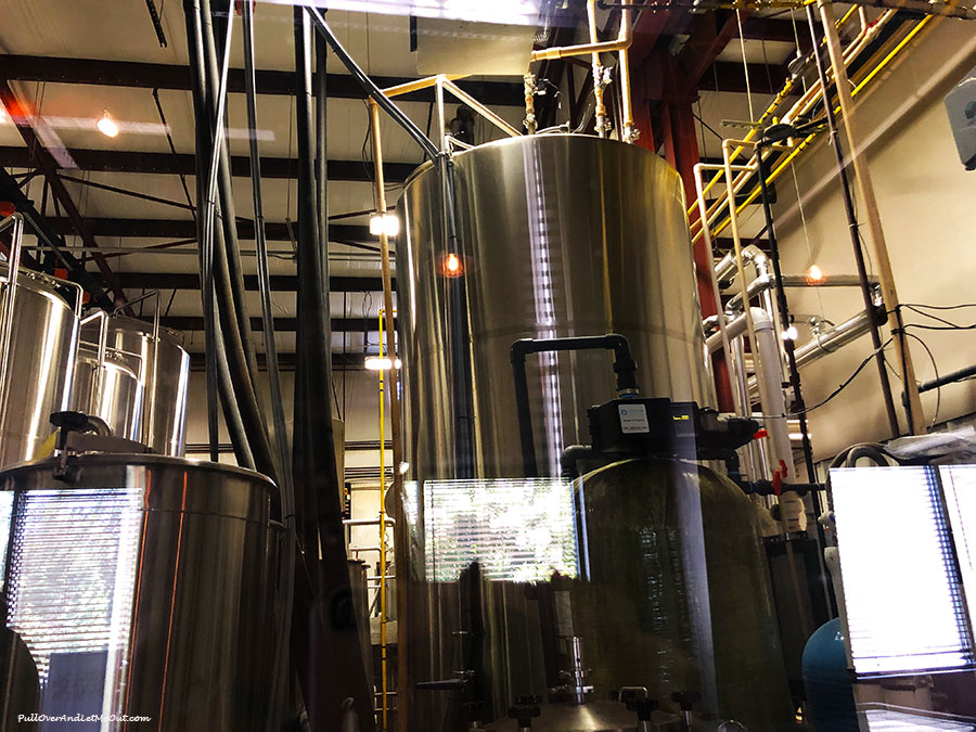 Brewery equipment at Southern Pines Brewing Co.
