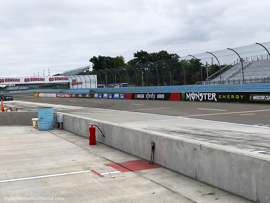 The pit area at Watkins Glen International race track in New York