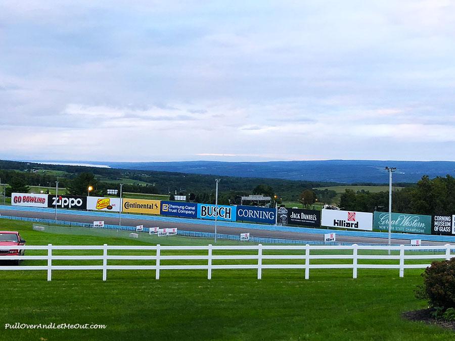 View of Watkins Glen International Raceway track in Watkins Glen, NY