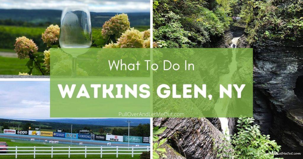 collage of photos of Watkins Glen, NY