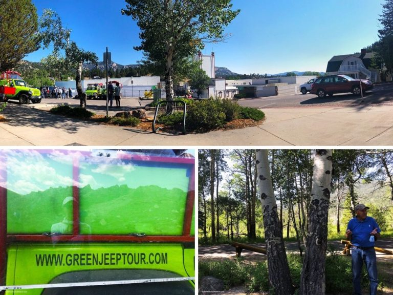 Collage of Green Jeep Tour photos