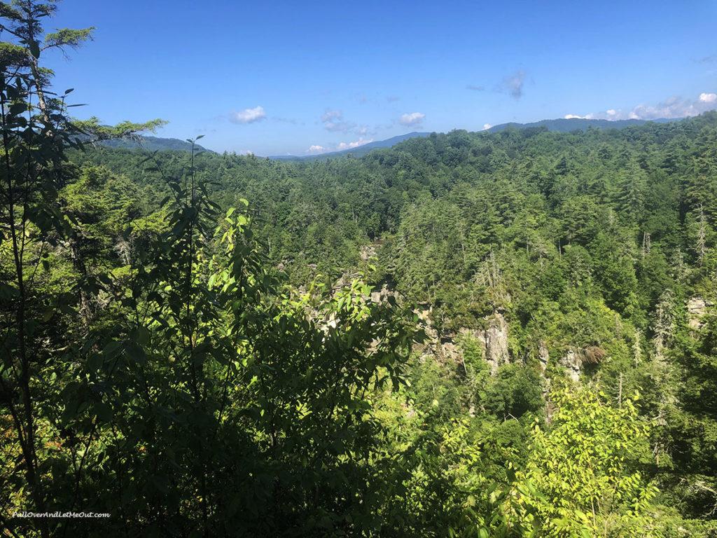 Mountain vistas at Linville Falls